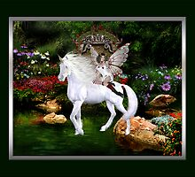 White Beauty And Heart Angel Framed by mickeyelvis128