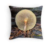 mushrooms  (Hypholoma capnoides)  Throw Pillow