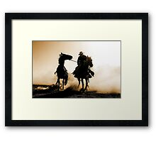 Rodeo Silhouette Framed Print