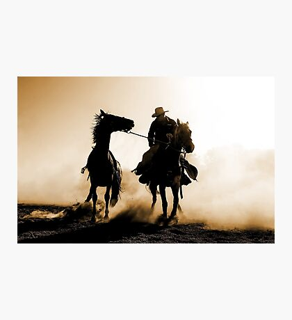 Rodeo Silhouette Photographic Print