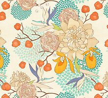 Peony Flower Pattern by sale