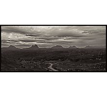The Assynt mountains in the Scottish Highlands. Photographic Print