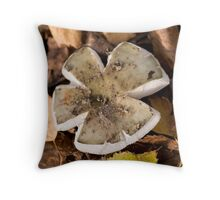 mushrooms (Russula cyanoxantha). Throw Pillow