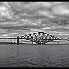 Panorama of The Forth Bridge, Scotland by David Alexander Elder