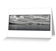 Panorama of The Forth Bridge, Scotland Greeting Card