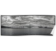 Panorama of The Forth Bridge, Scotland Poster