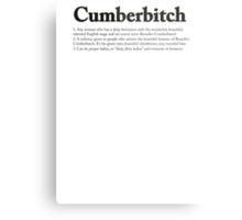 CUMBERBITCH TEE - 2nd Edition Metal Print