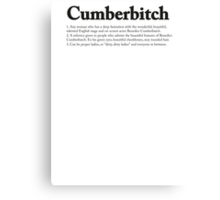 CUMBERBITCH TEE - 2nd Edition Canvas Print