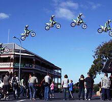 Josh Burdon Main street Jump by Steve Chapple
