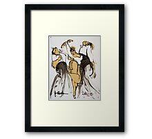 3 dancers Framed Print