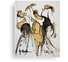 3 dancers Canvas Print