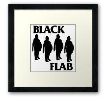 BLACK FLAB Framed Print