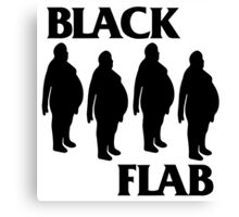 BLACK FLAB Canvas Print