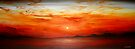 Panoramic Red Sunset by Cherie Roe Dirksen