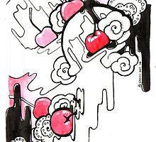 Cherries and Ice-cream III by Ruth Cadioli