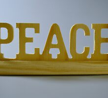 PEACE Wooden Block Carving, HD Photograph by tshirtdesign