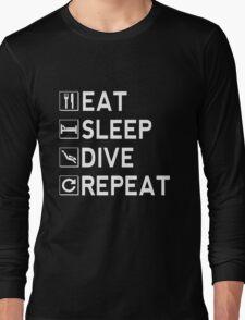 Eat - Sleep - Dive - Repeat Long Sleeve T-Shirt