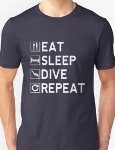Eat - Sleep - Dive - Repeat Unisex T-Shirt
