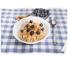 Oatmeal and Blueberries Poster