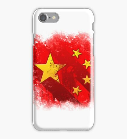Grungy China flag iPhone Case/Skin