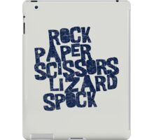 Rock Paper Scissors Lizard Spock iPad Case/Skin