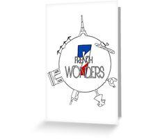7 Wonders of France Greeting Card