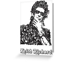 Keith Richards Letterhead Greeting Card