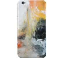Orange Black Abstract Print  iPhone Case/Skin