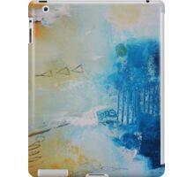 Orange Blue Abstract Print iPad Case/Skin