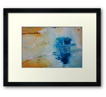 Orange Blue Abstract Print Framed Print