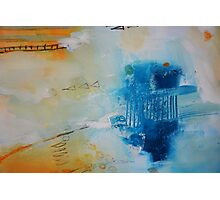 Orange Blue Abstract Print Photographic Print