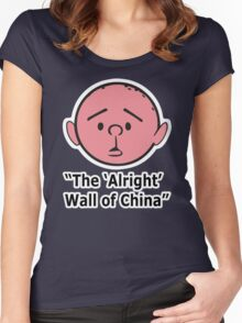 Karl Pilkington - The Alright Wall Of China Women's Fitted Scoop T-Shirt