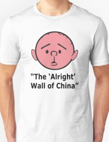Karl Pilkington - The Alright Wall Of China Unisex T-Shirt
