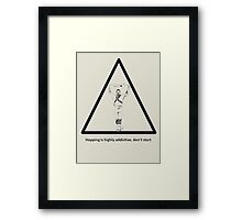 Hopping Is Highly Addictive - Morris Theme Framed Print
