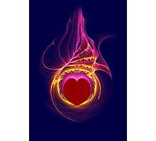 Heart Afire Photographic Print
