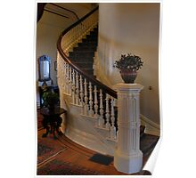 beautiful spiral staircase of California's historic Governor's Mansion Poster