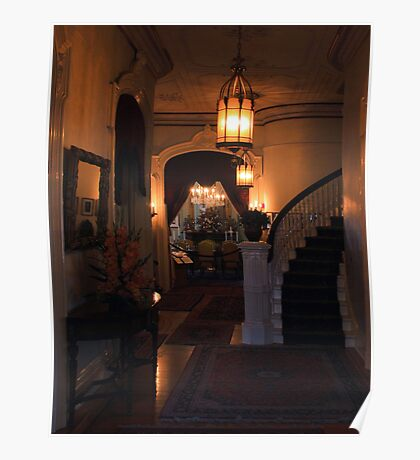Sacramento's Historic Governor's Mansion: front entryway Poster