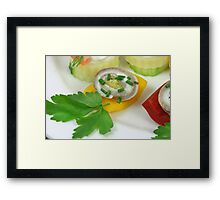 Fish and Vegetables II Framed Print