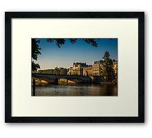 Pont du Carrousel Sunrise Framed Print