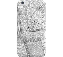 Zendoodle Drawing, Ink On Bristol Board. iPhone Case/Skin