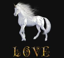 Unicorn White Beauty Love by mickeyelvis128