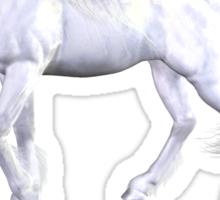 Unicorn White Beauty Love Sticker