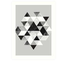Graphic 202 Black and White Art Print
