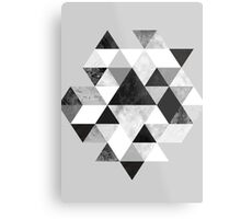 Graphic 202 Black and White Metal Print