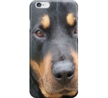 Beautiful  Female Rottweiler Portrait Vector iPhone Case/Skin