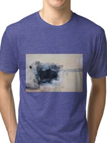 Abstract White Black Print from Original Painting  Tri-blend T-Shirt
