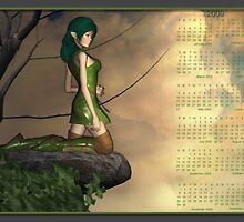 The Elfin - Calendar 2009 Month at a Glance by Lisa  Weber