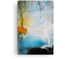 Orange Blue Abstract Print  Canvas Print
