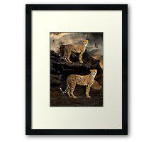 To Hunt in Pairs Framed Print