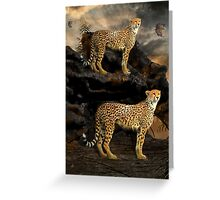 To Hunt in Pairs Greeting Card